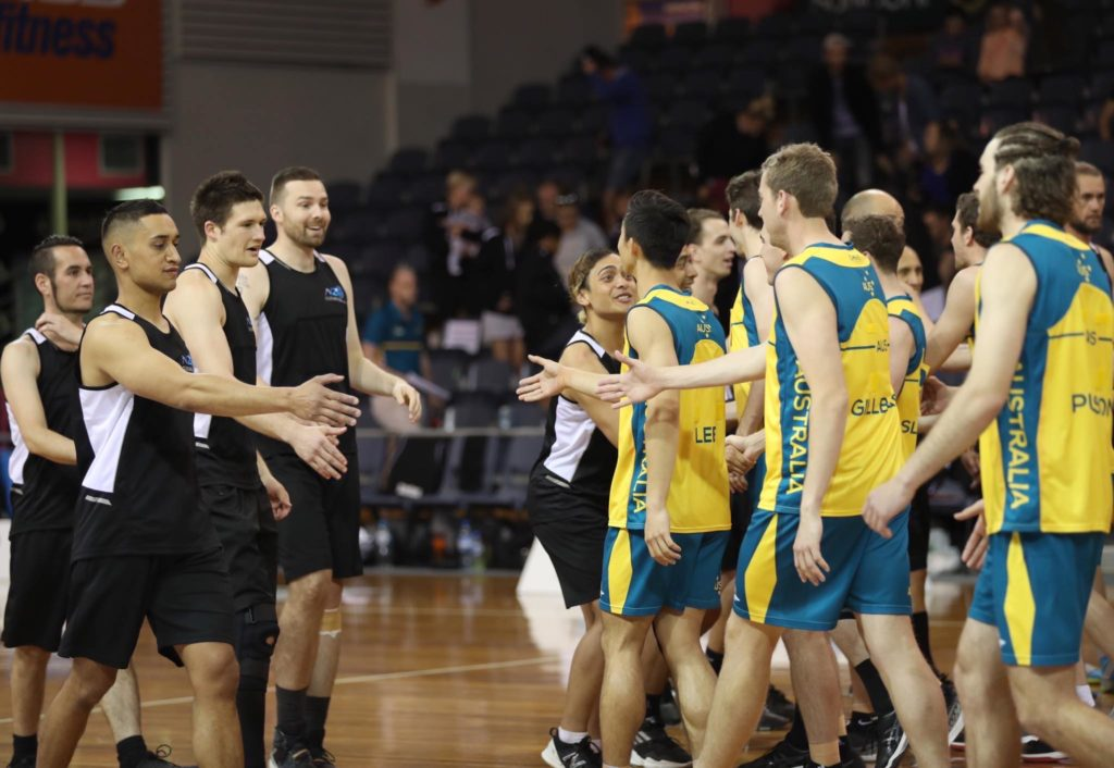 Australia and New Zealand Open Men's teams come together at the 2018 Trans Tasman Cup. Image: Clusterpix Photography